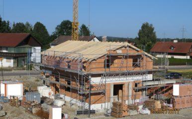 Neubau eines Einfamilienhauses mit Doppelgarage in Forstinning